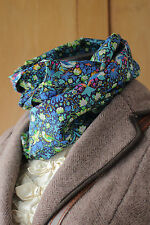 William MORRIS Leggero Sciarpa LIBERTY of London Strawberry Thief Blu Verde