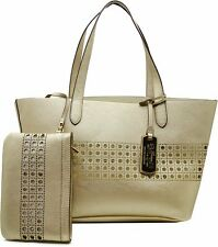 Ralph Lauren Leighton Shoppers Handbag Gold / Ivory by Agsbeagle #BagsFever