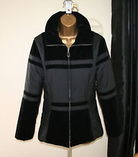 SPORTMAX by MaxMara Donna Splendido Nero Giacca/Cappotto Sz IT 40/UK 8 (8-10)