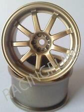 RC 1/10 SPEEDWAY PAL D9 Drift Car Rims Wheel 26mm 10mm OFFSET GOLD fits Tamiya
