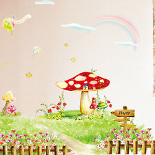 ELF MUSHROOM NURSERY - Printed Vinyl Wall Sticker Decor Transfer