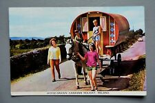 R&L Postcard: Horse Drawn Caravan Holiday Ireland, Gypsy Travellers Living Van