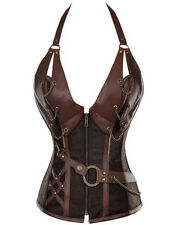 Plus Size Lingerie 4X Vegan Leather Steampunk Corset SEXY Fetish Play Bustier