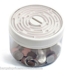 Novelty Maze safe Money Bank Puzzle Box White Piggybank Game Saving