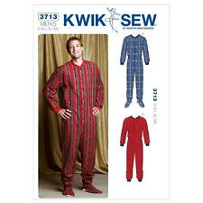 KWIK SEW SEWING PATTERN MEN'S ONESIE PAJAMAS SIZE S - XXL K3713