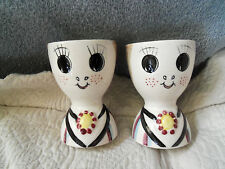2 VINTAGE EGG CUPS ~ PIXIEWARE~ JAPAN LEGO  Circa 1959