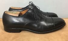 ALDEN 907 Black Leather Balmoral Cap-toe Oxford Dress Shoes 11 D Made In USA
