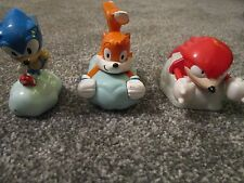 SONIC THE HEDGEHOG ~ 3 Figures ~ TAILS, SONIC, KNUCKLES ~ 1998 BURGER KING UK