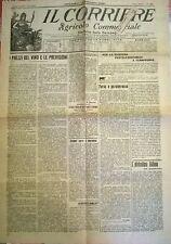 IL CORRIERE AGRIC. COM. 1 FEBBRAIO 1920 - I PREZZI DEL VINO E LE PREVISIONI -871