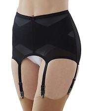 Cortland Foundations 6 Strap Black Garter Belt Shaper Girdle Size 30/Large