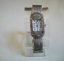Vintage Look Bracelet Marcasite Antique  Special Occasion Silver Finish Watch