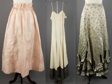Vtg Women's Edwardian Era Lot of 2 Skirts & 1 Dress AS-IS Silk Satin Lace #1232