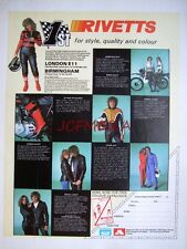 2 x 1979 'RIVETTS' Motor Cycle Leathers ADVERTS #1 - Clothing Print Ads 492k