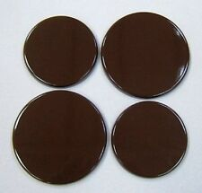 New Set x 4  BROWN  Enamel Electric Oven Hob Covers
