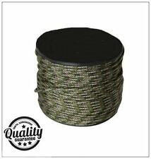 New Tough 100m Camo Paracord Reel 3mm Basha Tent Bivi Camping Guy Rope ParaCord