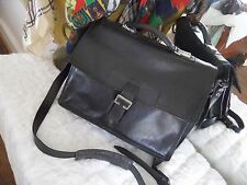 VINTAGE HIDESIGN by RADLEY Black soft LEATHER BRIEFCASE DOCUMENT BAG