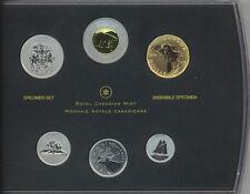 CANADA 2014 6-COIN SPECIMEN SET Ferruginous Hawk Special $1 Loonie RCM COA