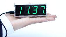 DIY4 Digit LED Electronic Clock Kit Large Screen Red Blue Green white Yellow LED