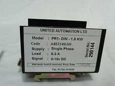 United Automation PR1-DIN-1.5KW Single Phase Regulator 0-10 VDC A407249-HV