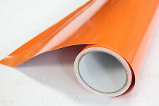 "Gloss Orange Cast Vinyl Film 2"" x 4"" sample VViViD 8 Wrap Truck Car Bike Boat"