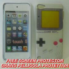 Pellicola+custodia BACK COVER rigida GAMEBOY per APPLE IPOD 5