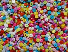Bulk 300pcs lots Random Mixed Mini Micro Resin Sewing shirt Buttons 2-holes 6mm