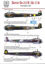 Hungarian Aero Decals 1/48 DORNIER Do-215B & DORNIER Do-17S German Bombers