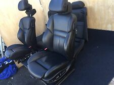 BMW E64 M6 650I COUPE (2006-2010) OEM 75K BLACK LEATHER SEATS SEAT BLACK