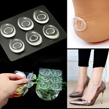6x Silicone Gel Shoe Insole Inserts Pad Cushion Foot Care Heel Grips Liner New