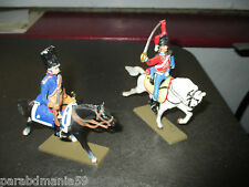 Lot de 2 Soldats Hussards + Chevaux Starlux - Glorieux Cavaliers de Napoléon