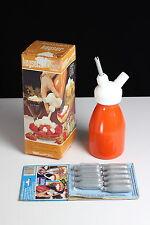 Kayser Sahneboy 1/4 L Sahnespender Sahnefee Orange Metall 9 Einwegkapseln OVP