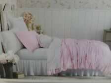 New Simply Shabby Chic Pink Ruched 2 Pc Duvet Cover Set Twin Size