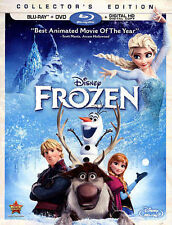 BLU-RAY FROZEN +DVD + DIGITAL COMBO SET DISNEY'S COLLECTOR'S EDITION