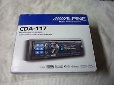 ALPINE CDA-117 BURR BROWN, 4V PREOUTS, NEVER MOUNTED OR INSTALLED!!!