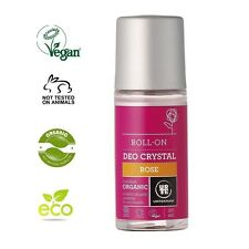 URTEKRAM ORGANIC CRYSTAL ROSE DEODORANT 50ml - VEGAN, NO ANIMAL CRUELTY