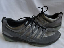 ECCO Size 36 (5 / 5.5) Gray Suede Metallic Silver Sneakers Tennis Athletic Shoes