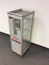 Halfsize Sales Trolley, durchsichtig, Atlas, Airline, bordbar