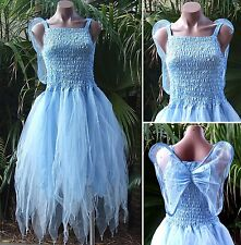 Fairy Dress Party Costume with Wings – WOMEN'S ONE SIZE - Snow Queen Light Blue