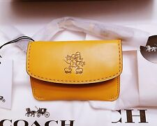 NEW!! Disney x Coach Limited Edition MICKEY Mouse Keychain Wristlet Pouch Gift
