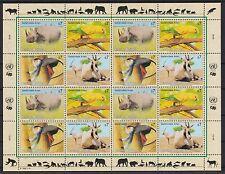 UNO Wien 1995 postfrisch MiNr.  180-183  Gefährdete Arten