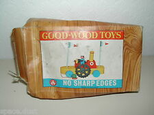 GOOD-WOOD TOYS - PADDLE BOAT - G.523 - WOODEN PADDLE BOAT - VINTAGE WOODEN TOY