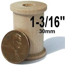 50x _ _ _ 1-3/16 in  (30mm)     Wooden craft SPOOL for dolls or wood crafts