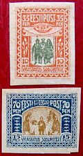 ESTONIA before USSR 1920 Wounded Soldier COMPLETE SET MLH ♣♣RARE♣♣