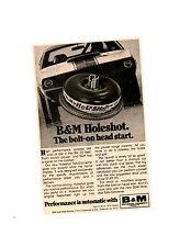 1970 PLYMOUTH CUDA PRO STOCK DRAG RACING / SOX & MARTIN ~ ORIG SMALLER B&M AD