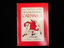 1962 St. Louis Cardinals Football Media Guide