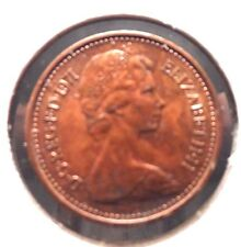 CIRCULATED 1971 1/2 NEW PENNY UK COIN! (#41615)
