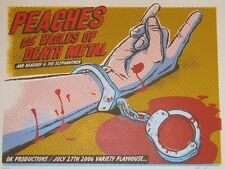 PEACHES & EAGLES OF DEATH METAL LIMITED EDITION SILKSCREEN CONCERT POSTER