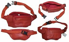 Waist pouch. Red Leather waist pouch, Medium size leather Fanny pack, New bag +*