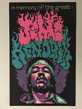 Blacklight Poster Pin-up Print Jimi Hendrix Beeghley Double Sided Prints