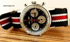 VINTAGE 1973 WAKMANN 3 REGISTER 12HOUR CHRONOGRAPH VALJOUX 72C TRIPLE DATE B/P